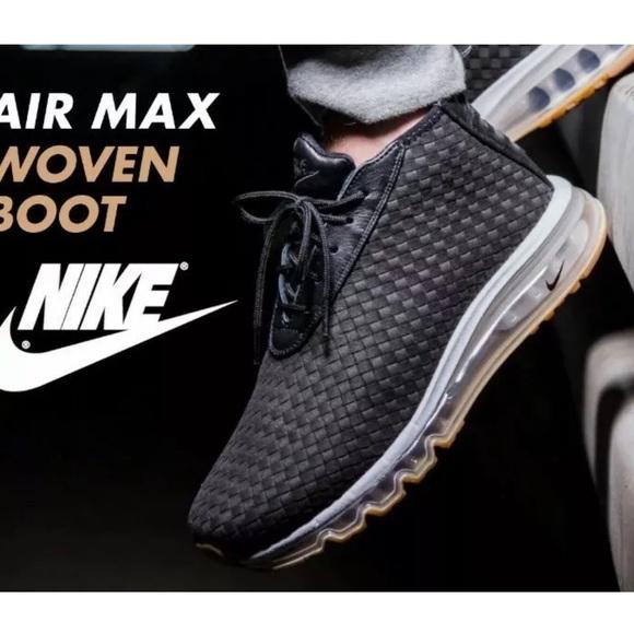 Nike Air Max Woven Boot Premium Black SZ 13